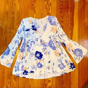 Floral Free People Tunic Top